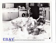 Robin Askwith barechested, Sue Longhurst VINTAGE Photo