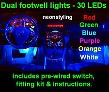 LED Interior Footwell neon Lights Volkswagon VW Golf mk4 mk5 GTI 1.4 1.6 1.9 TDI