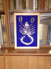 Handmade Boho Art / Naive Art Zodiac Sign Scorpio Gift
