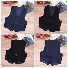 Baby Boys Formal Vest Party Wedding Dress Up Tuxedo Waistcoat Tops Gentleman Kid