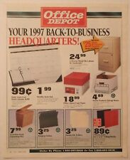 OFFICE DEPOT 1997 Newspaper INSERT ~ COMPUTERS ~ Softwear ~ PHONES ~ 12 Pages