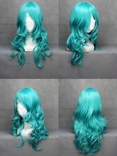 65cm Long Sailor Neptune Green Wavy Cosplay latest version full wig