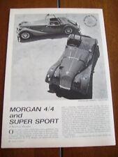 1963 MORGAN 4/4 & SUPER SPORT ***ORIGINAL ARTICLE***