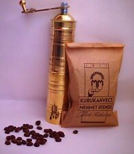 BRASS TURKISH Coffee GRINDER Mill & Kurukahveci Mehmet Efendi Coffee BEANS Set