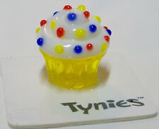 DOTTY SPRINKLE CUPCAKE TYNIES Tiny Glass Figure Figurine Collectibles 0153 NEW