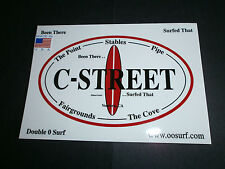 "C - Street Surf Surfing Surfboard Fin "" Been There.Surfed That "" Beach Sticker"