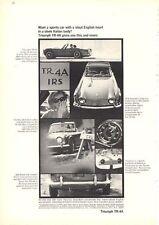 1966 Triumph TR-4A Michelotti Italian Designer PRINT AD
