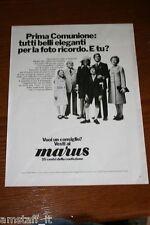 BD7=1972=MARUS CONFEZIONI ABBIGLIAMENTO=PUBBLICITA'=ADVERTISING=WERBUNG=