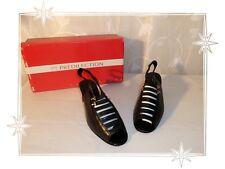 B - Chaussures Sandales  Nu Pieds  Noires Cuir Prédilection  Pointure 36