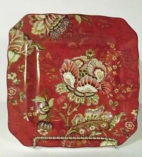 "222 FIFTH "" GABRIELLE RED "" 8 3/4 "" Square Salad Plate   EC"