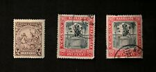 Barbados 1906-1925 Sc# 104, 165 Lot of 3 Stamps