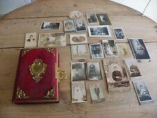ALBUM PHOTOS ANCIEN + PHOTOGRAPHIES ANCIENNES DE FAMILLE