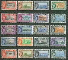 Bahamas 1953 definitivo Set 1/2d - £ 1 SG 201/16 Tonalità + M/Menta & U/M CV £ 100+