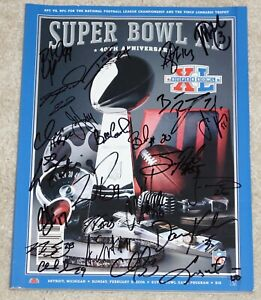 PITTSBURGH STEELERSSigned Super Bowl SB XL Program BEN ROETHLISBERGER 24 Autos