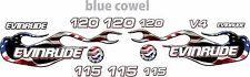 evinrude v4 cross flow usa flag flame 90 - 120 decal kit