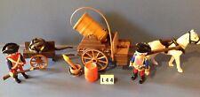 (L44) playmobil Transport du canon pirates anglais ref 3111 3112