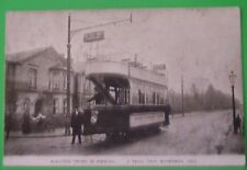 Postcard NOVEMBER 1903 TRAM A TRIAL TRIP ELECTRIC TRAMS IN IPSWICH SUFFOLK