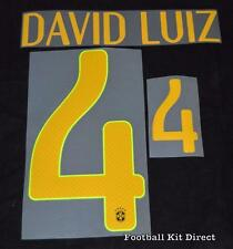 Brazil David Luiz 2014 Football Shirt Name/number Set Player Size Sporting ID T