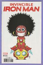 Invincible Iron Man 1 Skottie Young variant 1st Ironheart Riri Williams series v