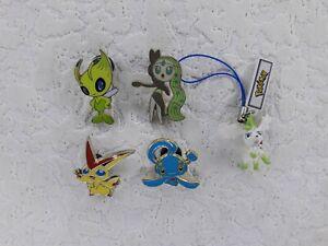 Pokemon Pin Badges Celebi Meloetta Victini & Manaphy