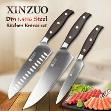 XINZUO kitchen tools 3 pc kitchen knife set utility  Germany stainless steel