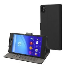 (RV415) JOBLOT of 42 x Muvit Stand Folio Elegant Case for Sony Xperia Z5