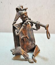 Original Old Antique Fine Hand Crafted Casted Brass Chinese Man Figurine