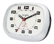 Reloj despertador con Estuche de dos tonos barrido de segunda mano manos luminosas