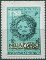 Niuafo'ou 1983 SG16 $1 on $2 Map gold ovpt MNH