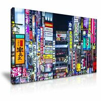 Japan Tokyo Skyline PICTURE PRINT CANVAS WALL ART FRAMED 20X30INCH