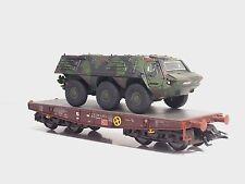 MÄRKLIN 48710 DB  Flachwagen + Panzer Fuchs  4MFOR - Scala 1:87