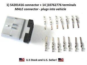 1) 54201416 male connector +14) 10762776 terminals 14 way Apex Delphi RP-1226