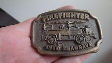 Mens Vintage FIRE DEPARTMENT  FD   BELT BUCKLE EMT BELT FIREFIGHTER SEAGRAVE