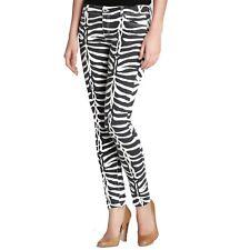 MICHAEL Michael Kors $125 Stretch Canvas Mountain Zebra Jeans Animal Print Sz 2