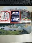 3 NEW SEALED Playing Cards BUDWEISER, BUD LIGHT, LIZARD. US Playing Card Co.