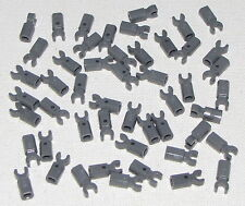 Lego Lot of 50 New Dark Bluish Gray Bar Holder with Clip Parts