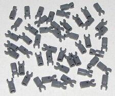 Lego Lot of 50 New Dark Bluish Gray Bar Holder with Clip Parts