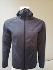 Men's Gore Running Wear Essential Windstopper Softshell Hoody Size M Raven Brown