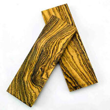 2Pcs DIY Knife Handle Scales Mexico Bocote Wood Blanks Making Plate Material #s2