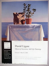 David Ligare Art Gallery Exhibit  PRINT AD - 2002