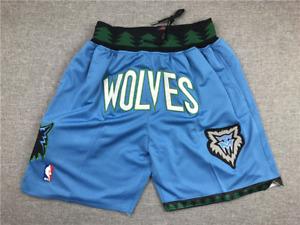 Minnesota Timberwolves JUST DON SHORTS NBA Sewn Size S-2XL High Quality