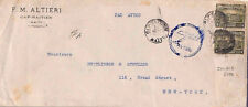 MS3704 1929 HAITI *Cap-Haitien* to USA New York Double Rate Airmail Cover