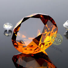 40mm Crystal Paperweight Diamond Shape Wedding Decor Office Home Favor  Ornament