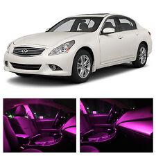 13x Pink LED Light Interior Package Kit for 2007-2014 Infinit G35 G37 Sedan