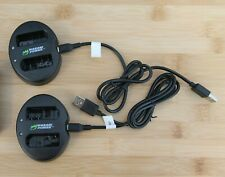 2 Wasabi Power Dual USB Battery Chargers bundled w/ 2 Nikon Rechargeable batt.