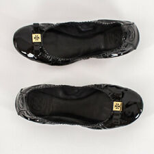 Tory Burch Women's Ballet Flats Slippers Black w/ Bow & Gold Logo Size 6 or 6.5