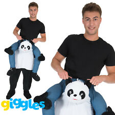 Panda Piggy Back Ride On Me Mascot Mens Fancy Dress Carry Costume Stag Do