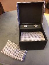 Silk Tie, Cuff Links & Handkerchief