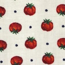 Tomatoes Fabric by Joan Messmore BTY Cotton Cranston Print Quilting Crafts Quilt