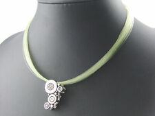 Pierre Lang Halskette Collier Anhänger Kordelkette Magnet Silber farbig Stein b